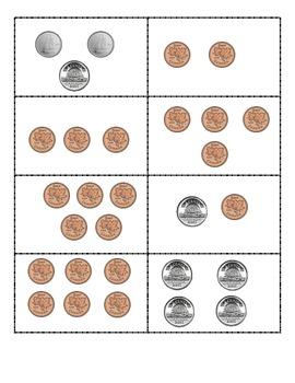 War game- using Money Candian coins. Grade 1