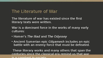 War in Ancient Literature