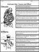 War in Vietnam: Causes and Effects - Graphic Organizer
