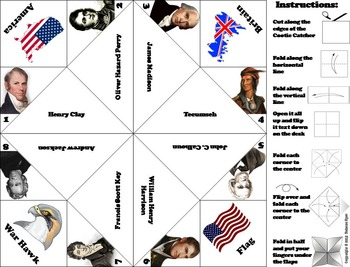 War of 1812 Activity: Battles and Heroes Foldable