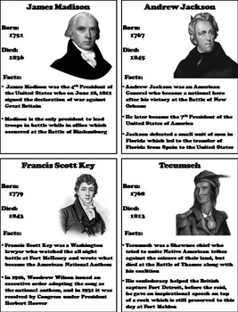 War of 1812 Unit Activity: Battles and Heroes Foldable Interactive Notebook