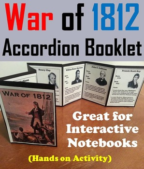 War of 1812 Unit Activity: Battles and Heroes Foldable Int