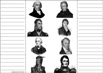 War of 1812 Activity: Battles and Heroes Foldable Interactive Notebook