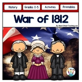 War of 1812 Activity Pack with James Madison, Dolley Madison & Andrew Jackson