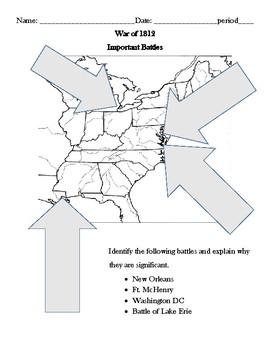 War of 1812 Battles