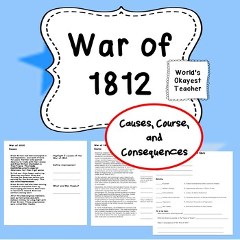 War of 1812: Cause, Course, and Consequences