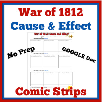War of 1812 Cause and Effect Comic Strips