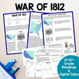 War of 1812 Causes, Events & Outcomes Digital Readings & T