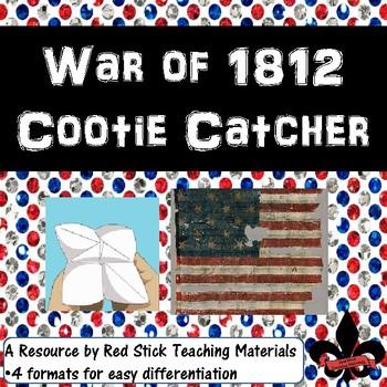 War of 1812 Cootie Catcher
