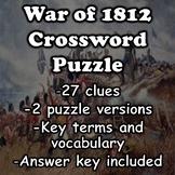 War of 1812 Crossword