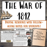 War of 1812   Digital Lessons and Activities