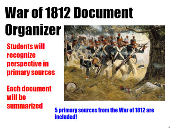 Close reading War of 1812 Primary Sources