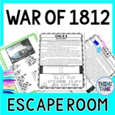 War of 1812 ESCAPE ROOM:  James Madison, Impressment - Print & Go!