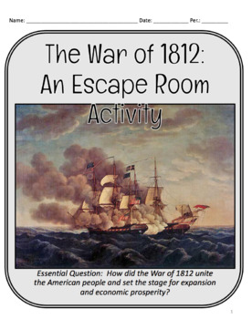 War of 1812 Escape Room