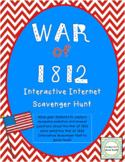 War of 1812 Interactive Internet Scavenger Hunt Webquest Activity