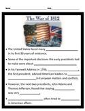War of 1812 Interactive notes