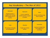 War of 1812 - Key Vocabulary