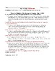 War of 1812: Madison's War Message Adaptive Worksheet with Answer Key