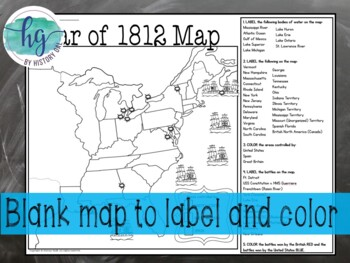 War of 1812 Map Activity