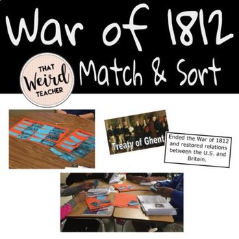 War of 1812 Match and Sort