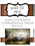 War of 1812 Non-Fiction Reading & Timeline Practice