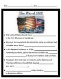 War of 1812 PowerPoint with Interactive Notes 4th Grade Social Studies
