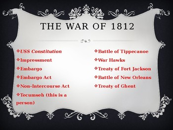War of 1812 Powerpoint