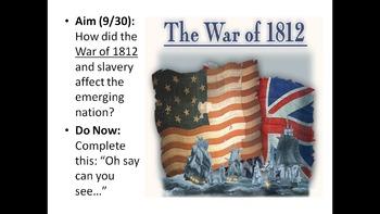 US History Unit 1.4 - War of 1812 & President Jackson