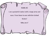War of 1812 Riddles 2nd Grade