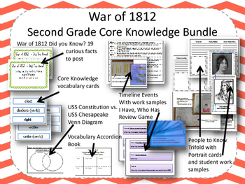 War of 1812 Second Grade Core Knowledge Bundle with student work samples