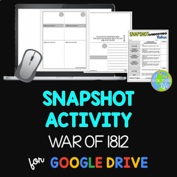 War of 1812 Snapshot Foldable Activity