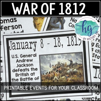 War of 1812 Timeline {A Printable for Your Classroom}