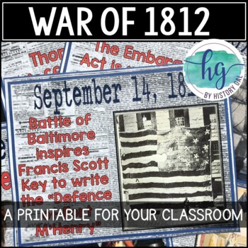 War of 1812 timeline a printable for your classroom by history gal war of 1812 timeline a printable for your classroom publicscrutiny Gallery