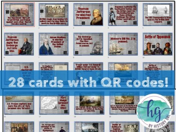 War of 1812 Timeline Activity (With and Without QR Codes)