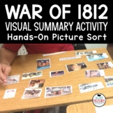 War of 1812 Activity Visual Summary Picture Sort Baggies