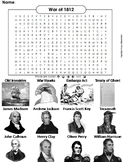 War of 1812 Word Search