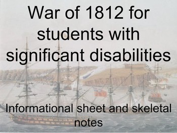War of 1812 for Students with Significant Disabilities