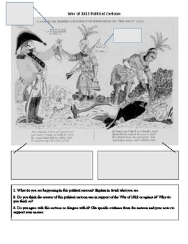 War of 1812 political Cartoon Analysis