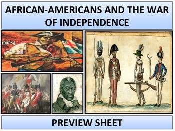 War of Independence - African-Americans