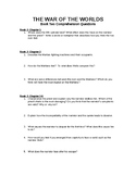 War of The Worlds Book Two Comprehension Questions