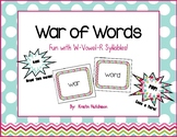 War of Words - A card game to practice w-or and w-ar Vowel