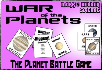 War of the Planets - The Planet Characteristic Game