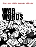 War of the Words: A Fast and Fun Game to Practice Diction and Sensory Language