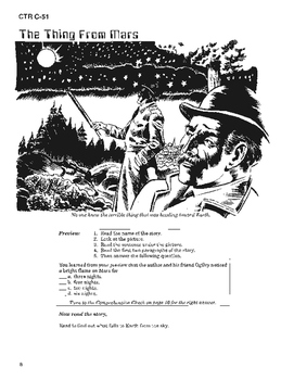 War of the Worlds 10 Chapter Novel with Student Activities and Answer Keys
