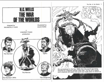 War of the Worlds Comic Questions
