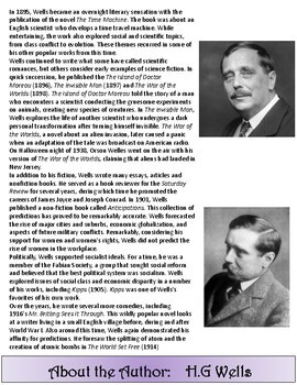 War of the Worlds by H.G Wells ----- Flipbook Interactive Study Guide.