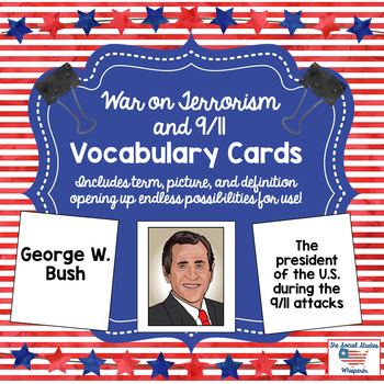 War on Terrorism and 9/11 Vocabulary Cards