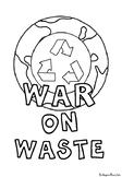 War on Waste Foldable Comprehension Booklet