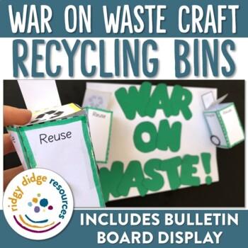 Recycling Bin Craft and Bulletin Board Display
