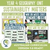 Australian Curriculum Year 4 Geography Sustainability Unit
